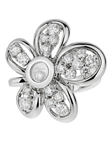 Chopard Flower Diamond White Gold Ring
