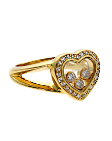 Chopard Happy Diamond Heart Gold Ring 82/4502 - Chopard Jewelry