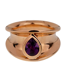 Chopard Imperiale Pear Amethyst Rose Gold Ring - Chopard Jewelry