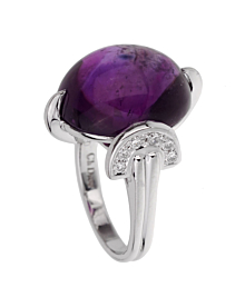Christian Dior Amethyst Diamond Platinum Cocktail Ring - Dior Jewelry