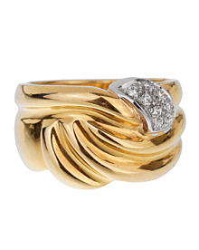 Damiani Vintage Yellow Gold Diamond Ring - Estate Jewelry