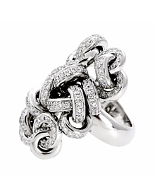 De Grisogono Diamond Cocktail White Gold Ring