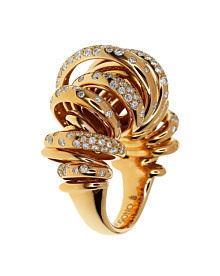 De Grisogono Diamond Cocktail Rose Gold Ring
