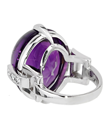 Dior Amethyst Diamond White Gold Cocktail Ring - Dior Jewelry
