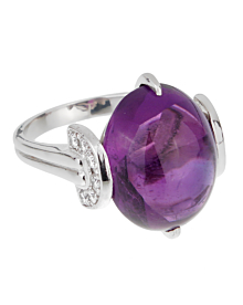 Dior Amethyst Platinum Diamond Ring - Dior Jewelry