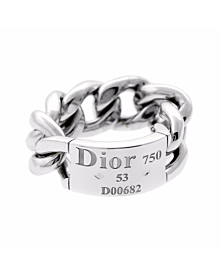 Dior White Gold Chain Gourmette Link Ring - Dior Jewelry