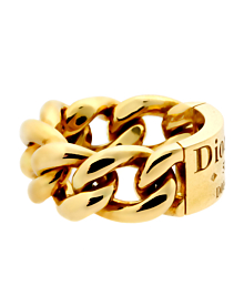 Dior Gold Chain Gourmette Link Ring - Dior Jewelry