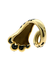 Dior Mitza Panther Gold Lacquer Ring - Dior Jewelry