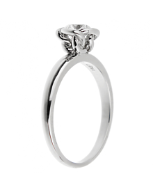 Fred of Paris Fleur Celeste Platinum Diamond Engagement Ring