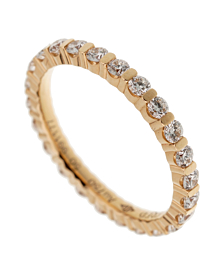 Fred of Paris Diamond Eternity Rose Gold Ring - Fred of Paris Jewelry