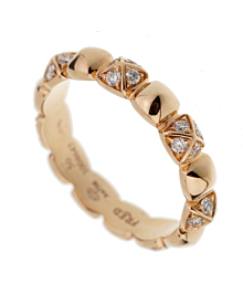 Fred of Paris Rose Gold Diamond Pyramid Ring - Fred of Paris Jewelry