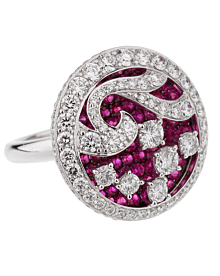 Graff Diamond Ruby White Gold Cocktail Ring