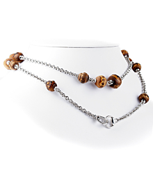 Gucci Bamboo Silver Long Chain Necklace - Gucci Jewelry