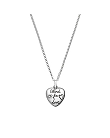 Gucci Blind for Love Heart Silver Necklace - Gucci Jewelry