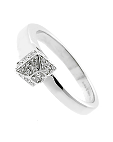 Gucci Chiodo Diamond White Gold Ring - Gucci Jewelry