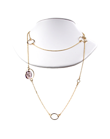 Gucci Flora Amethyst Drop Necklace - Gucci Jewelry