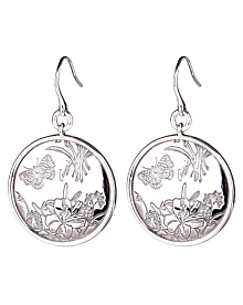 Gucci Flora Silver Drop Earrings - Gucci Jewelry