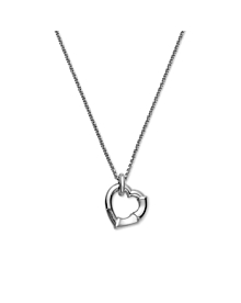 Gucci Silver Bamboo Heart Necklace - Gucci Jewelry