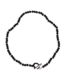 Gucci Onyx Bead Silver Necklace - Gucci Jewelry