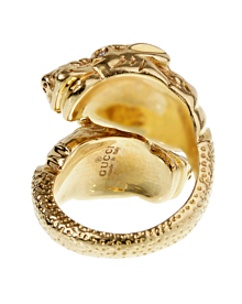 Gucci Tiger Diamond Yellow Gold Ring