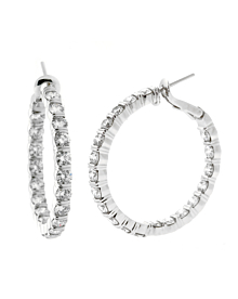 Harry Winston 5.46 Ct Diamond Platinum Hoop Earrings - Harry Winston Jewelry
