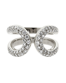 Hermes Diamond H White Gold Cocktail Ring - Hermes Jewelry