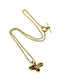 Hermes Diamond H Gold Necklace - Hermes Jewelry