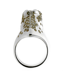 Hermes Galop Horse Limited Edition Diamond Silver Ring
