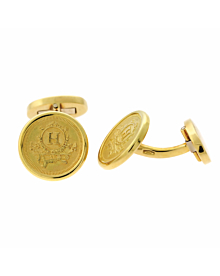 Hermes Yellow Gold Cufflinks
