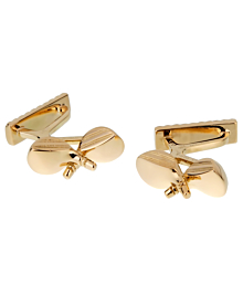 Hermes Yellow Gold Golf Club Cufflinks