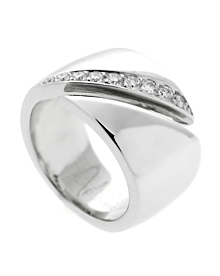 Hermes Bypass Diamond White Gold Ring