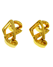 Hermes Stirrup Yellow Gold Cufflinks - Hermes Jewelry