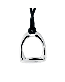 Hermes Stirrup White Gold Necklace
