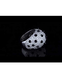 Cartier Panthere Spike Diamond Onyx Ring - Cartier Jewelry