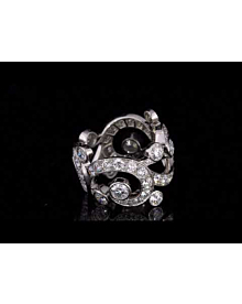 Cartier High Jewelry Platinum Diamond Cocktail Ring For Sale Opulent Jewelers