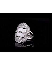 Chanel Ultra Diamond White Gold Ceramic Ring For Sale Opulent Jewelers