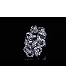 De Grisogono Diamond Cocktail White Gold Ring | Opulent Jewelers