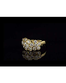 Van Cleef and Arpels Fleurette Diamond Gold Ring For Sale Opulent Jewelers