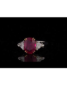 Harry Winston Burma Ruby Diamond Ring For Sale Opulent Jewelers