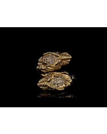 Gucci Tiger Diamond Yellow Gold Ring For Sale Opulent Jewelers