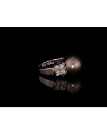 Bulgari Lucea Pearl White Gold Diamond Ring For Sale Opulent Jewelers