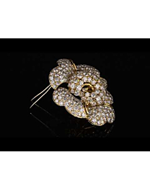 Bulgari La Dolce Vita 34 Carat Pave Diamond Gold Brooch - Bulgari Jewelry