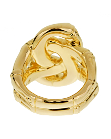 John Hardy Double Bamboo Yellow Gold Ladies Ring