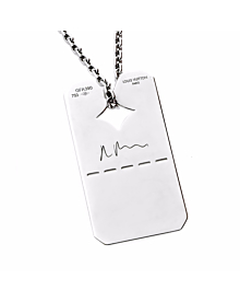 Louis Vuitton Dog Tag White Gold Necklace 2