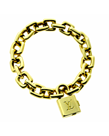 Louis Vuitton Padlock Charm Gold Bracelet - Louis Vuitton Jewelry