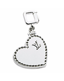 Louis Vuitton Heart Locket Charm White Gold Pendant - Louis Vuitton Jewelry