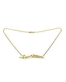 Louis Vuitton Signature Diamond Gold Necklace - Louis Vuitton Jewelry