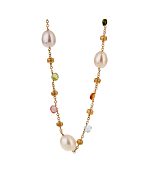 Marco Bicego Paradise Pearl Gemstone Gold Necklace - Marco Bicego Jewelry