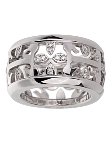 Patek Philippe Calatrava Wide Diamond White Gold Ring - Patek Philippe Jewelry