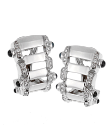 Patek Philippe Diamond Sapphire 18k White Gold Earrings - Patek Philippe Jewelry